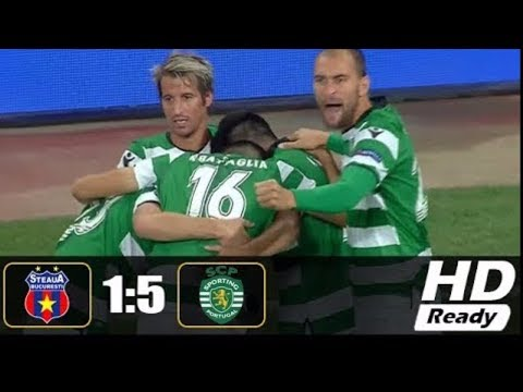 Steaua Bucuresti vs Sporting 1-5 All Goals & Highlights - UCL 24/08/2017