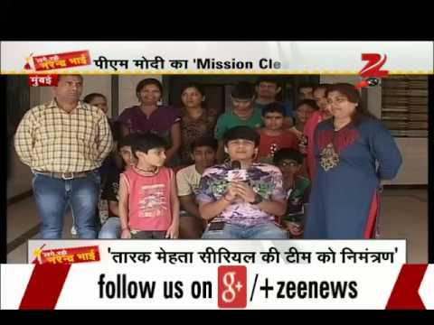 Team of Tarak Mehta Ka Ooltah Chashmah joins  Clean India  mission 02 October 2014 04 PM