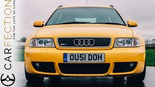PART 2 of 6 - Audi's second car to get the RS treatment was the B5 A4, this time with a biturbo V6 outputting 375bhp!You can watch the entire film with all 6 parts right now on http://carfection.comSubscribe for more Carfection videos: http://bit.ly/1V1yFYXJoin the Carfection community...Like on Facebook: http://on.fb.me/1RvTdL4Follow on Twitter: http://bit.ly/1JUAgiI