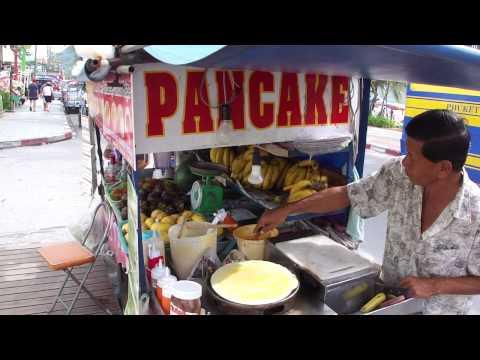 Patong Beach Phuket French Crepe Thai Pancake Vendor