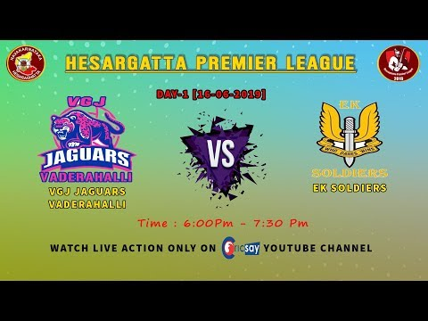 || Hesaraghatta Premier League || DAY-2 || VGJ Jaguars Vs EK Soldiers ||
