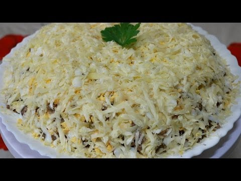 Рецепты салатов мужской с