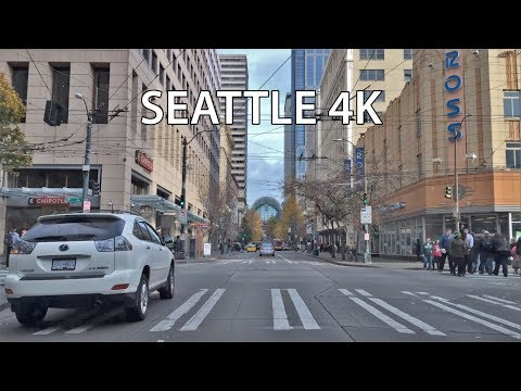 Driving Downtown - Seattle 4K - USA
