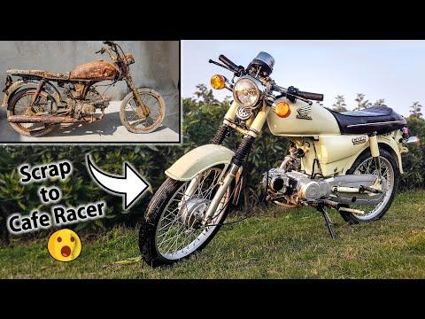 Restoration Honda CD 70 Motorcycle & Building  a Cafe Racer - Full Timelapse