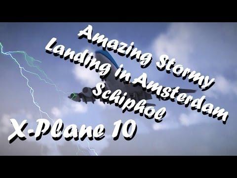 Amazing Stormy Landing in Amsterdam...