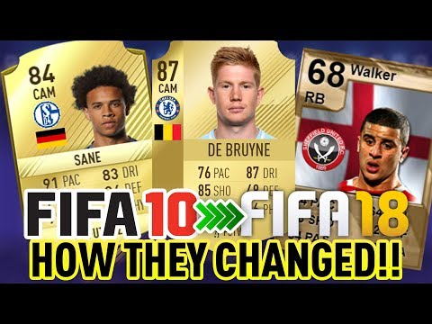FIFA 10-18 - MAN CITY RECORD BREAKERS, HOW THEY CHANGED IN FUT!