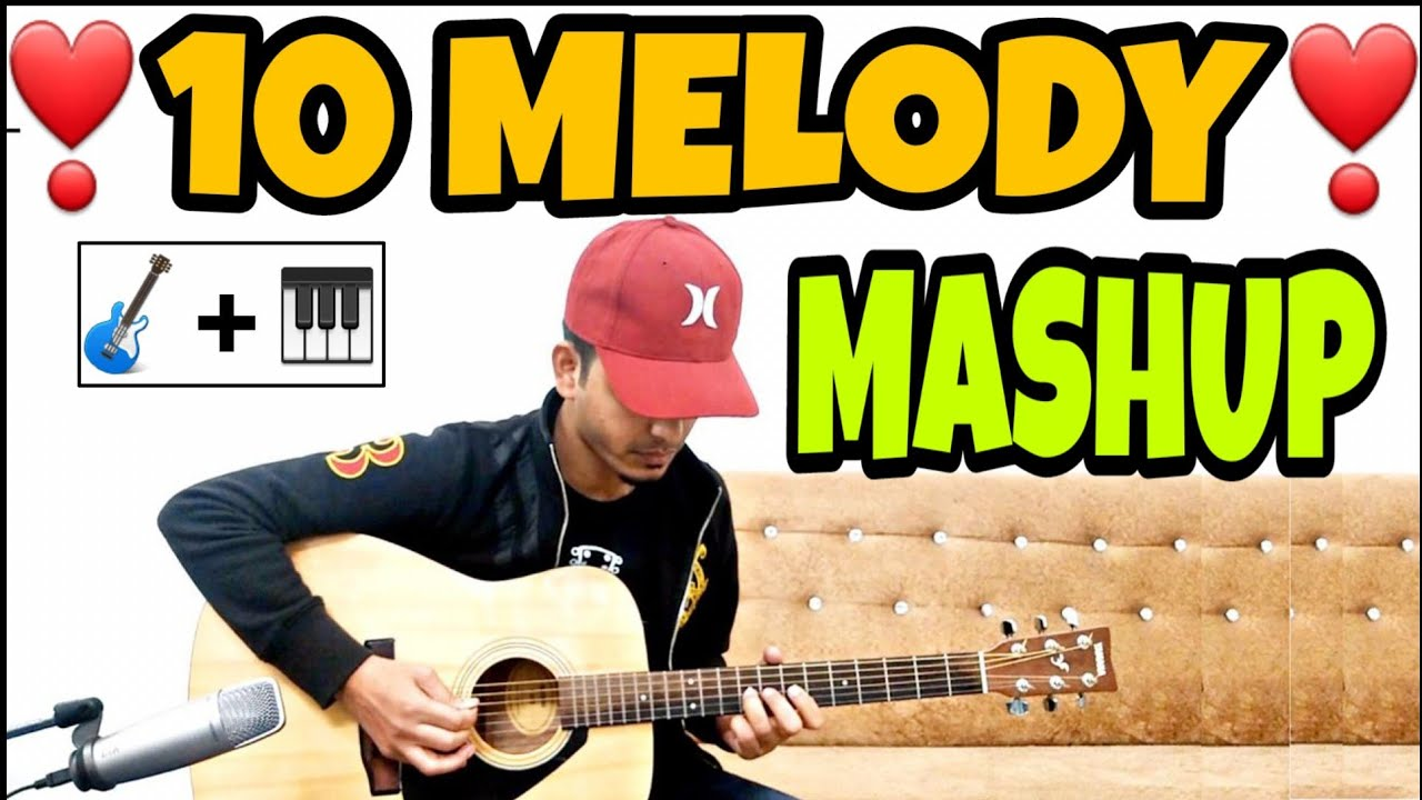 1 BEAT MASHUP : 10 Songs Melodies Mashup Cover on Guitar by FUXiNO | Valentine Day Song Mashup