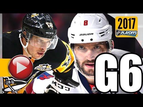 Washington Capitals vs Pittsburgh Penguins. 2017 NHL Playoffs. Round 2. Game 6. 05.08.2017 (HD)