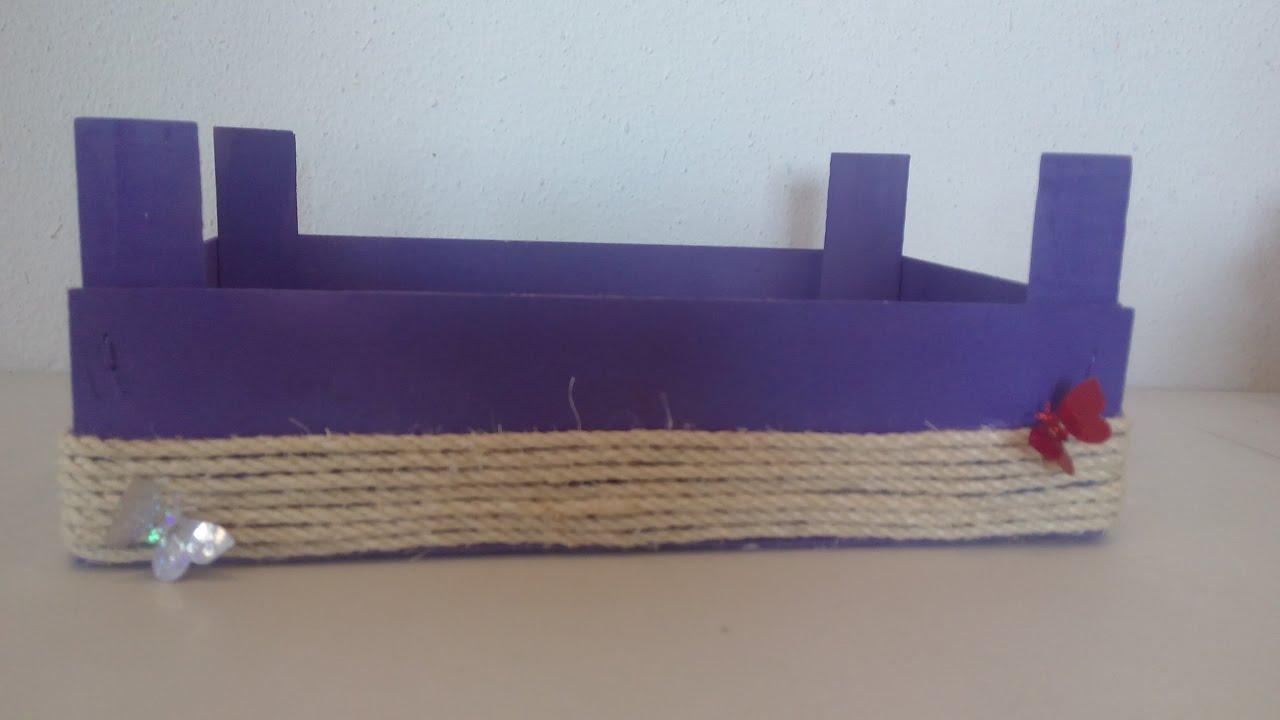 C mo decorar cajas de fresas diy manualidades - Decorar cajas de madera manualidades ...