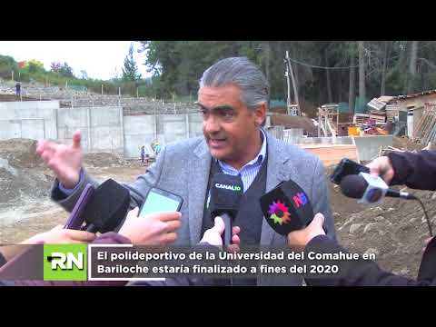 El polideportivo de la Universidad del Comahue en Bariloche estaría finalizado a fines del 2020