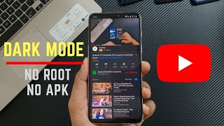 Enable DARK MODE in YouTube app !!!