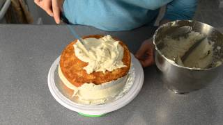 How to Frost a Cake with Homemade Buttercream Recipe by  Cookies Cupcakes and Cardio