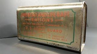 Video 1945 Lifeboat & Liferaft Rations MRE Review USCG & Navy Survival Food Taste Testing MP3, 3GP, MP4, WEBM, AVI, FLV Desember 2018