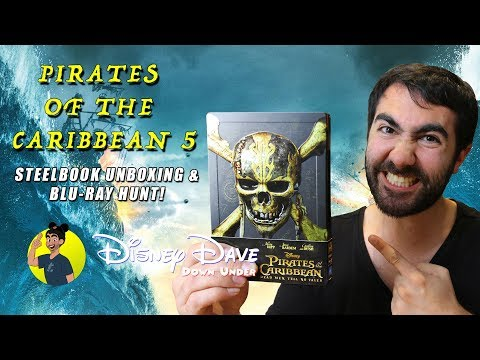 PIRATES OF THE CARIBBEAN: DEAD MEN TELL NO TALES / SALAZAR'S REVENGE Blu-ray Steelbook Unboxing
