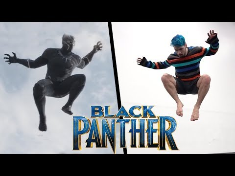 Black Panther Stunts In Real Life (Parkour, Tricking, Tumbling)