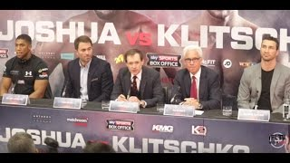 ANTHONY JOSHUA v KLITSCHKO PRESS CONFERENCE