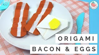 In this tutorial, learn how to make origami eggs and bacon! This origami food tutorial is easy and is the perfect paper craft for kids. Fold more zig-zag folds to make the origami bacon more crispy. Shape the origami sunny side egg however you want (I like my origami eggs to be more elongated and less round). The origami bacon and eggs look good enough to eat, doesn't it? ;-) Do you like egg and bacon? Leave a comment if you'd like me to make more origami food tutorials! What kind of origami food?SELECT MATERIALS / ADS:500 sheets of origami paper! http://amzn.to/2rLYdBdMORE ORIGAMI FOOD TUTORIALS:Origami Donut Tutorial: https://youtu.be/huE7ZEYHXfEOrigami Strawberry Tutorial: https://youtu.be/oALScF6PBl8------ABOUT: Hello my crafty friends! I'm Jenny, from NYC, and I LOVE to craft. I've created hundreds of paper craft and origami tutorials, do-it-yourself (DIY) crafting tutorials, and general craft tutorials, so be sure to subscribe and check back frequently. :-)INSTAGRAM: https://Instagram.com/OrigamiTree/FACEBOOK: https://www.Facebook.com/OrigamiTreeSNAPCHAT: https://www.snapchat.com/add/OrigamiTreeTWITTER: https://Twitter.com/OrigamiTreePINTEREST: http://www.Pinterest.com/OrigamiTreeWEBSITE: http://www.OrigamiTree.comShare your crafts in the Fan Gallery (bit.ly/OTFanGallery), or on social media with #OrigamiTree. You may also visit OrigamiTree.com, for free craft tutorials, demos, printable origami paper, and more!Business Inquiries: JennyOrigamiTree@gmail.com