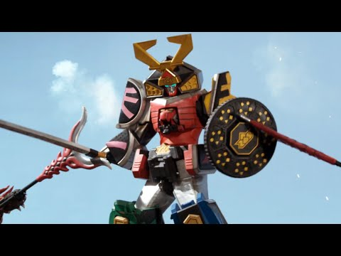 Super Mega Pink & The Bull as a Carrier Zord