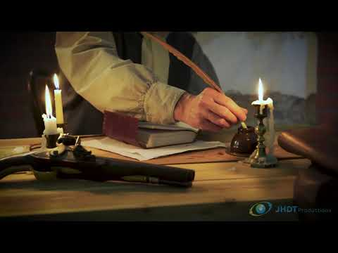 colonial man writing in a ledger during  the Revolutionary war
