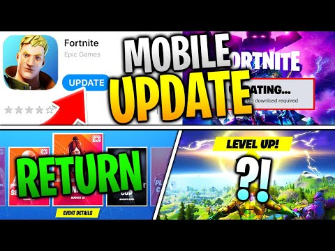 Fortnite Mobile Got UPDATED! Is Mobile Finally RETURNING? Tournaments and Arena SOON?!