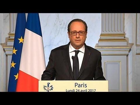 Γαλλικές εκλογές: Έκκληση Ολάντ για στήριξη του Μακρόν στον β' γύρο