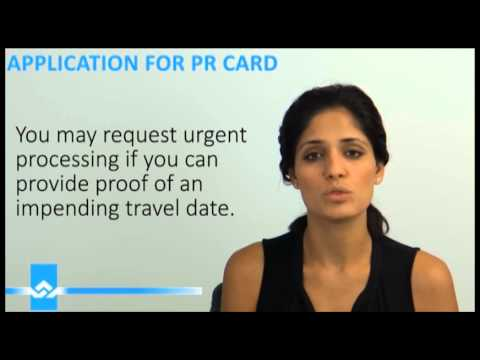 Application for PR Card Renewal Video