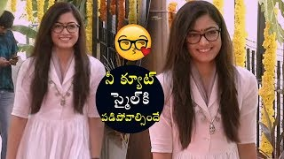 Rashmika Mandanna Cute Smile  | Dear Comrade Movie Opneing  | Vijay Devarakonda