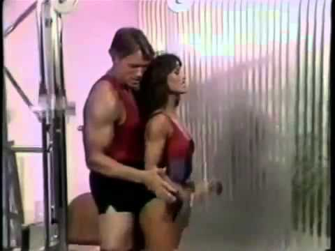 Arnold Schwarzenegger ARM TRAINING! Hilarious 1980s Workout Video