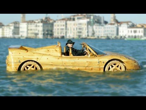 Homemade Wooden Ferrari Makes Waves In Venice