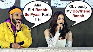Video Alia Bhatt Cute Reaction On Comparison Between Ranbir Kapoor And Ranveer Singh MP3, 3GP, MP4, WEBM, AVI, FLV Januari 2019