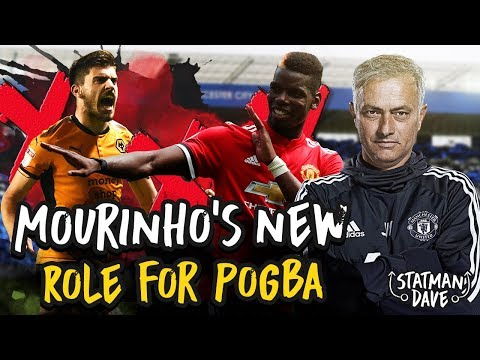 Pogba's New Role? Why Mourinho Needs To Play a Back 3 v Wolves | Predicted XI, Formation and Tactics (видео)