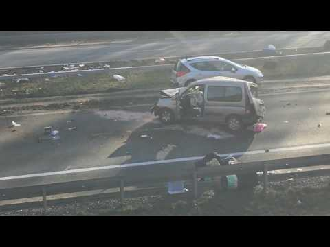 Wideo: Wypadek na S3 Lubin - Legnica