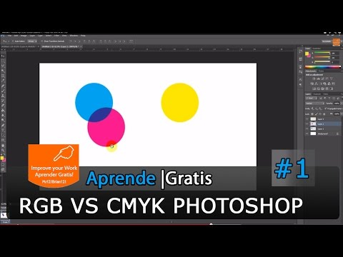 Adobe Photoshop CS6 Curso Basico 1 - RGB Vs CMYK En HD