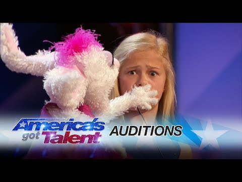 12-Year-Old Singing Ventriloquist Gets Golden Buzzer