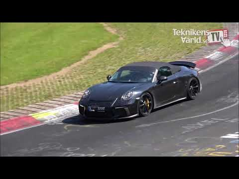 The all-new Porsche 911 Speedster at the Nürburgring