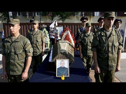 Ουκρανία: Θρήνος στην κηδεία μέλους της Εθνοφρουράς