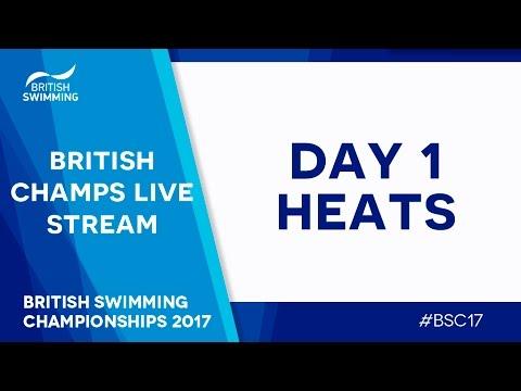 British Swimming Championships 2017 - Day 1 Heats