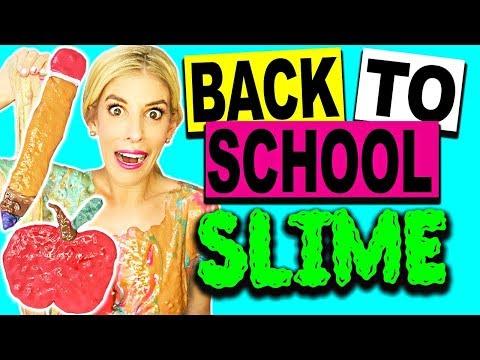 DIY BACK TO SCHOOL SLIME AND ROOM TOUR! (NO BORAX) (видео)