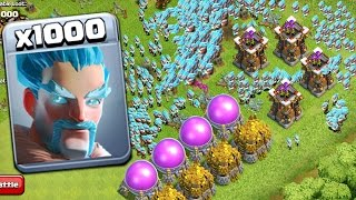 Video 1000 Ice Wizard Marvelous Attack On COC | Mod Server GamePlay MP3, 3GP, MP4, WEBM, AVI, FLV Oktober 2017