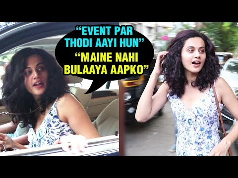 Taapsee Pannu Angry On Photographers, Refuses To P
