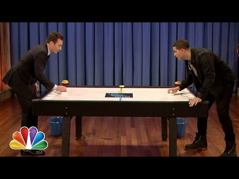 Watch Jimmy Fallon And Drizzy Drake Play 'BEER HOCKEY'