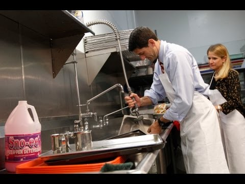 Paul Ryan Caught Washing Clean Dishes in Staged Photo Op Video