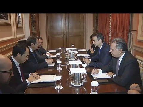 Συνάντηση Κυρ. Μητσοτάκη – Ν. Αναστασιάδη για το Κυπριακό