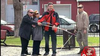 Just For Laughs TV - DANGER: Electric Wire Blind Crossing