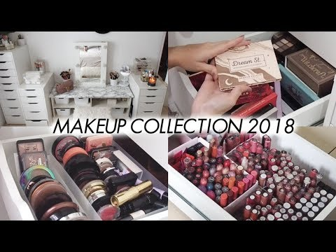 MAKEUP COLLECTION & VANITY TOUR 2018