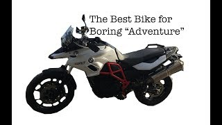 "2. The Best Bike for Boring ""Adventure"" - BMW F700 GS Rallye Motorcycle Bike - Motovlog Review"