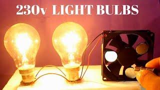 Video Two Free Energy 230v Light Bulbs Using Magnet For Lifetime - 230v Light Bulbs Using PC Cooling Fan MP3, 3GP, MP4, WEBM, AVI, FLV November 2018