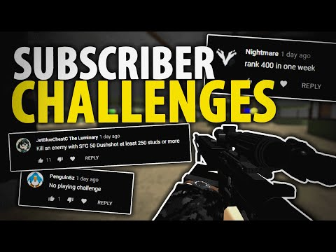 My Subscribers Gave Me Challenges (Phantom Forces ROBLOX)