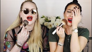 10 MINUTE GLAM AF MAKEUP CHALLENGE Ft. NIKKIE TUTORIALS