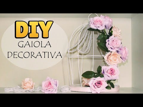 shabby chic - come realizzare una gabbietta decorativa!